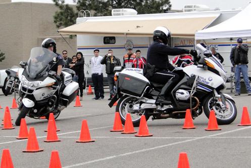 motorcycle skills demonstration